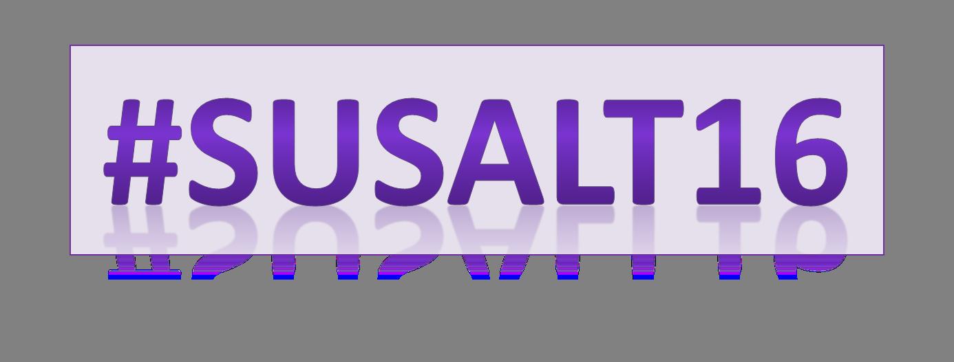 Conference Hashtag #SUSALT16