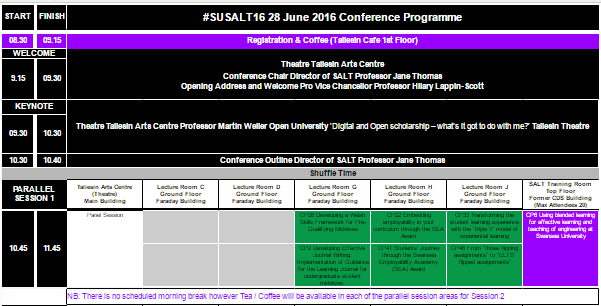 Click image to view SALT Conference Programme